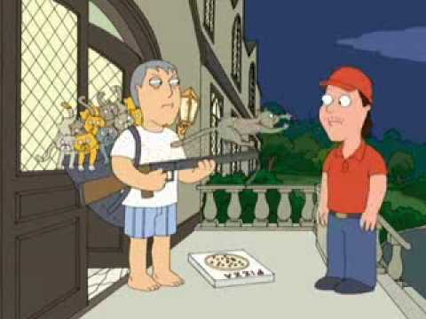 Family Guy- Adam West's Cat Launcher