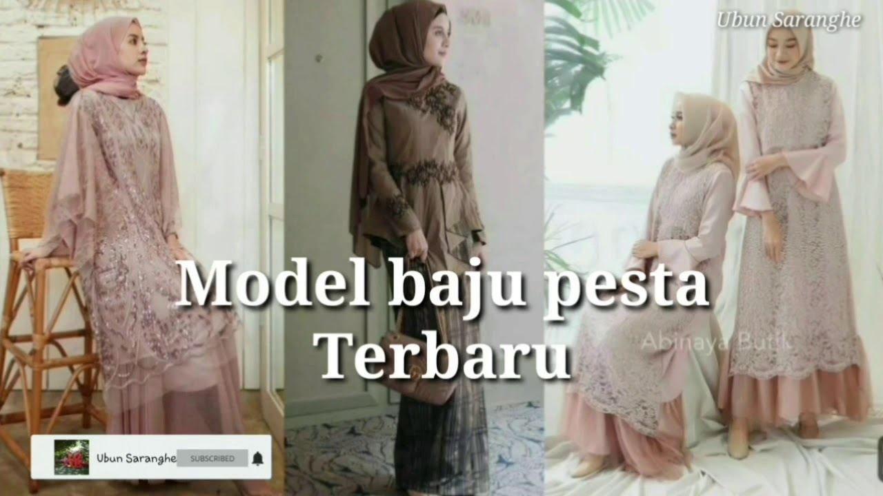 Model baju pesta terbaru 11 - YouTube