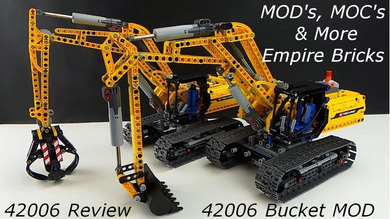 Mod The Lego Technic Excavator 42006 Part 1 Youtube