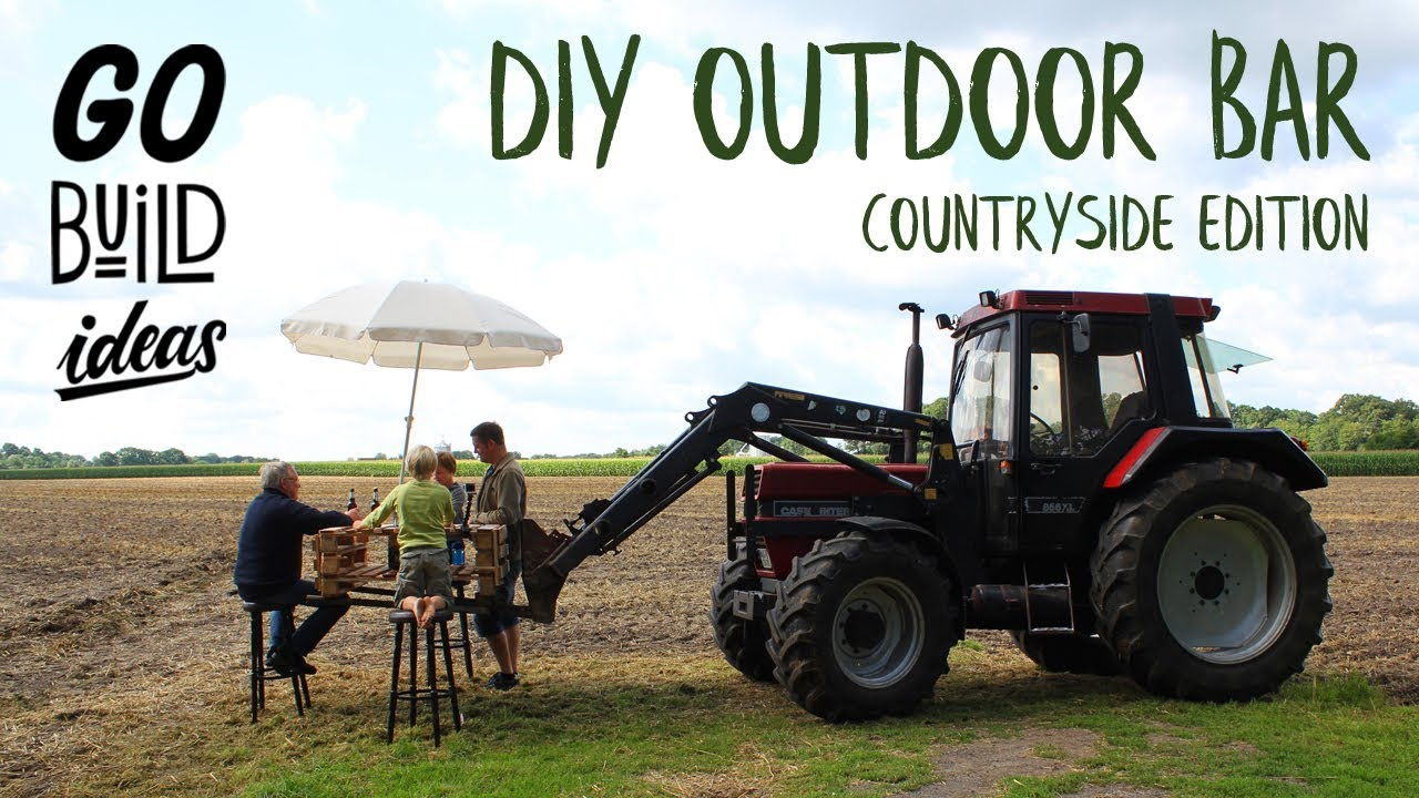 How to build a DIY MOBILE BAR with a TRACTOR (Countryside Edition ...