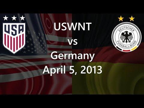 USWNT vs Germany April 5, 2013
