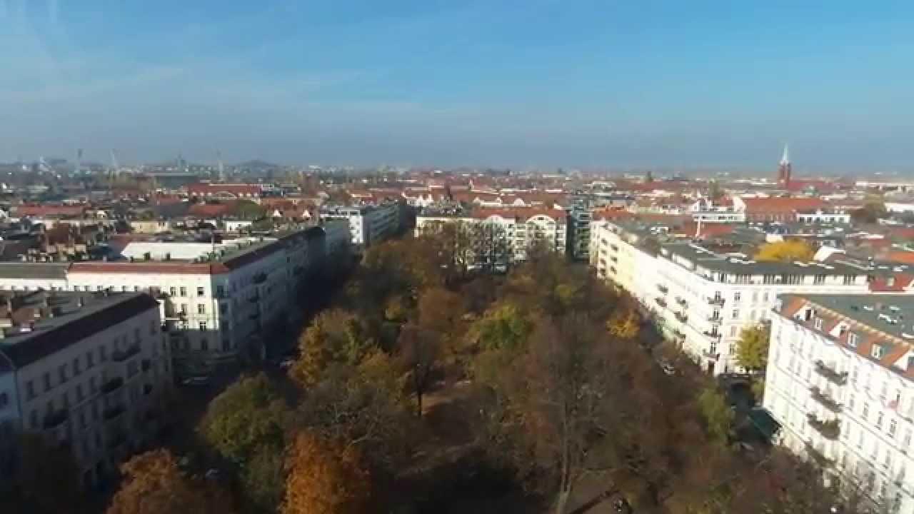 Parrot Bebop Drone Flying Over Berlin Prenzlauer Berg Helmholtzplatz