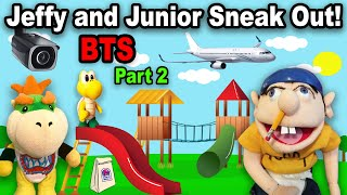 SML Jeffy and Junior Sneak Out! BTS! Pt. 2
