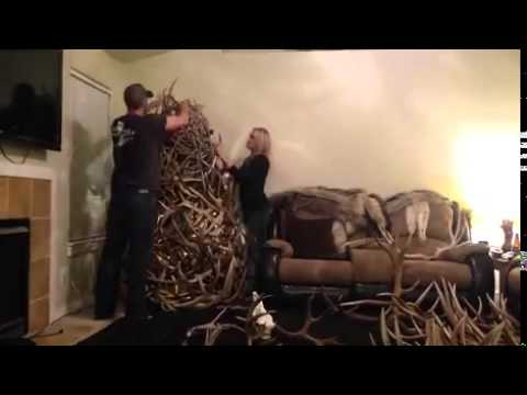 Time Lapse: Christmas Antler Tree - YouTube