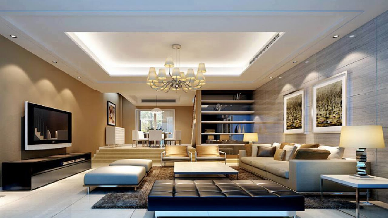 Gorgeous Chinese Living Rooms With Alluring Ceiling ...