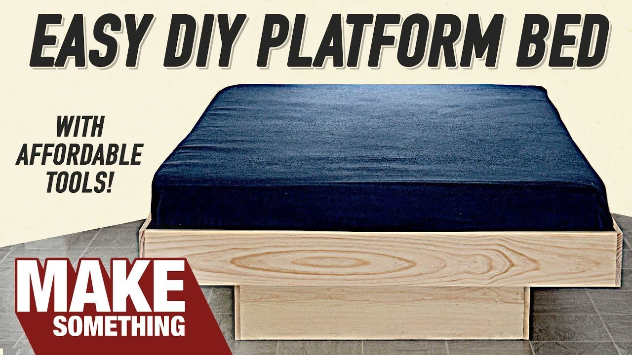 How To Make A Platform Queen Bed Diy Project Youtube
