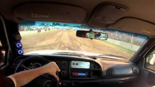 Arlington WI diesel truck pull in cab video