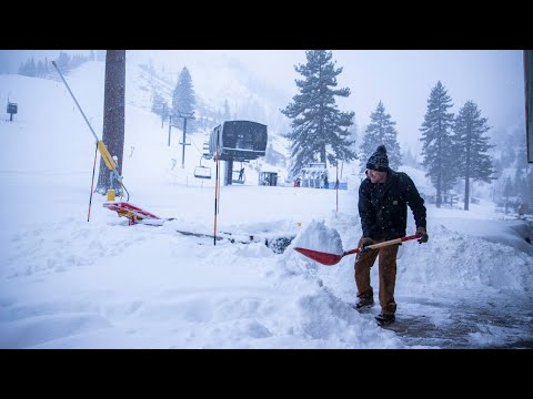 See More Than A Foot Of Snow At A Tahoe Ski Resort
