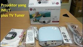 Si Imut Plus TV !!! Unboxing Projector MiniBeam LG