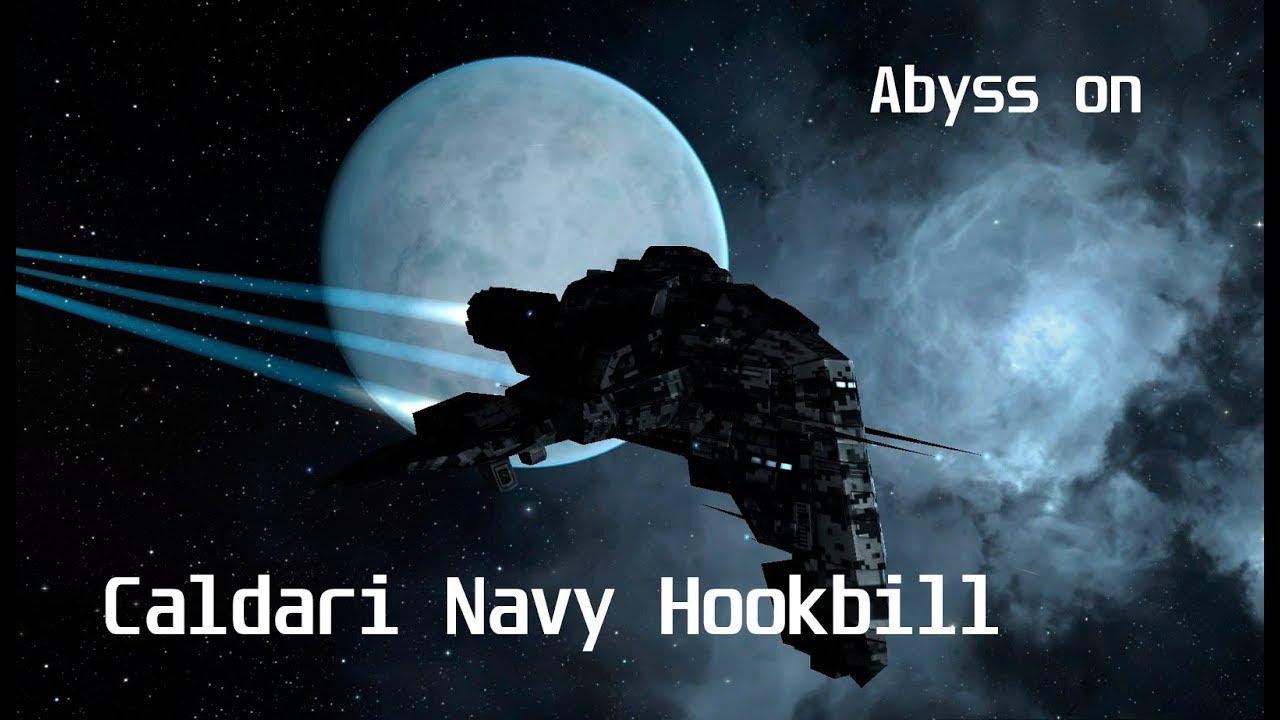 Abyss (Dark 1 lvl) on Faction frigate (Caldari Navy Hookbill)