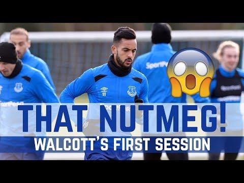 WALCOTT'S FIRST TRAINING SESSION... THAT NUTMEG! 😱