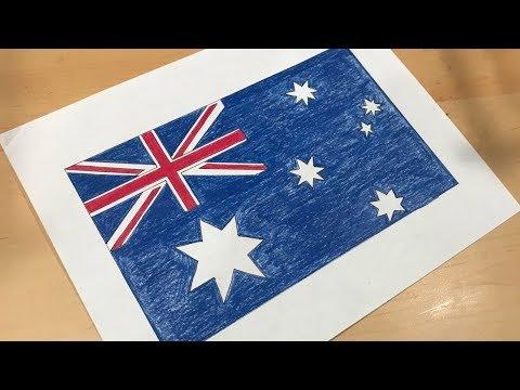 Australian Flag Drawing 🇦🇺