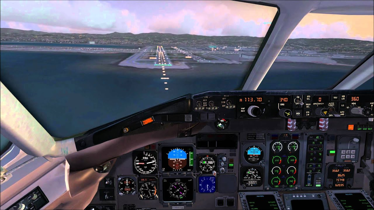 Flight Simulator X Wallpaper: (HD) Fsx Delta Md-80 Crosswind Landing At San Francisco