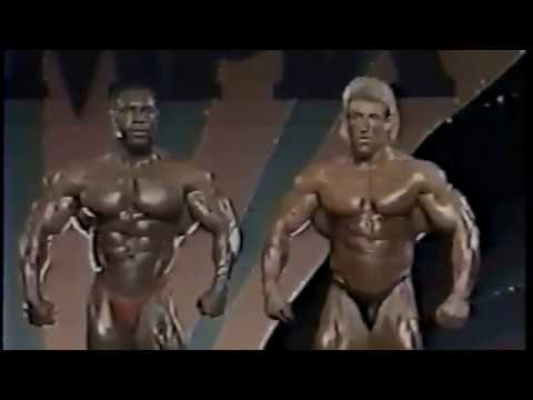 Lee Haney's final Mr Olympia1991 vs Dorian Yates (LeeHaney's 8th title)