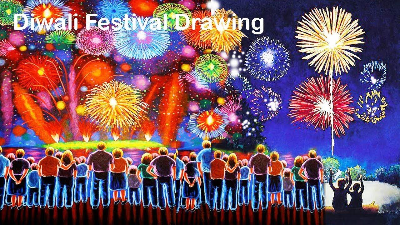Diwali festival drawing youtube