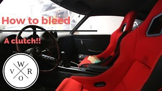 how to bleed a clutch 240z 1jz