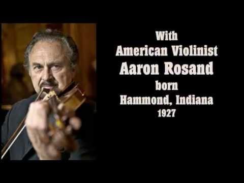 """PABLO de SARASATE - """"Zigeunerweisen Op. 20"""" with violinist, Aaron Rosand"""