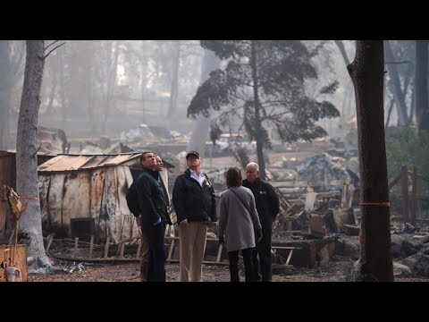 'Right now politics don't matter:' Trump visits Paradise in aftermath of the Camp Fire