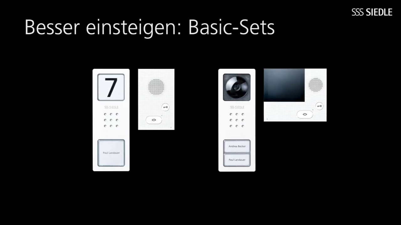 siedle basic im set - youtube