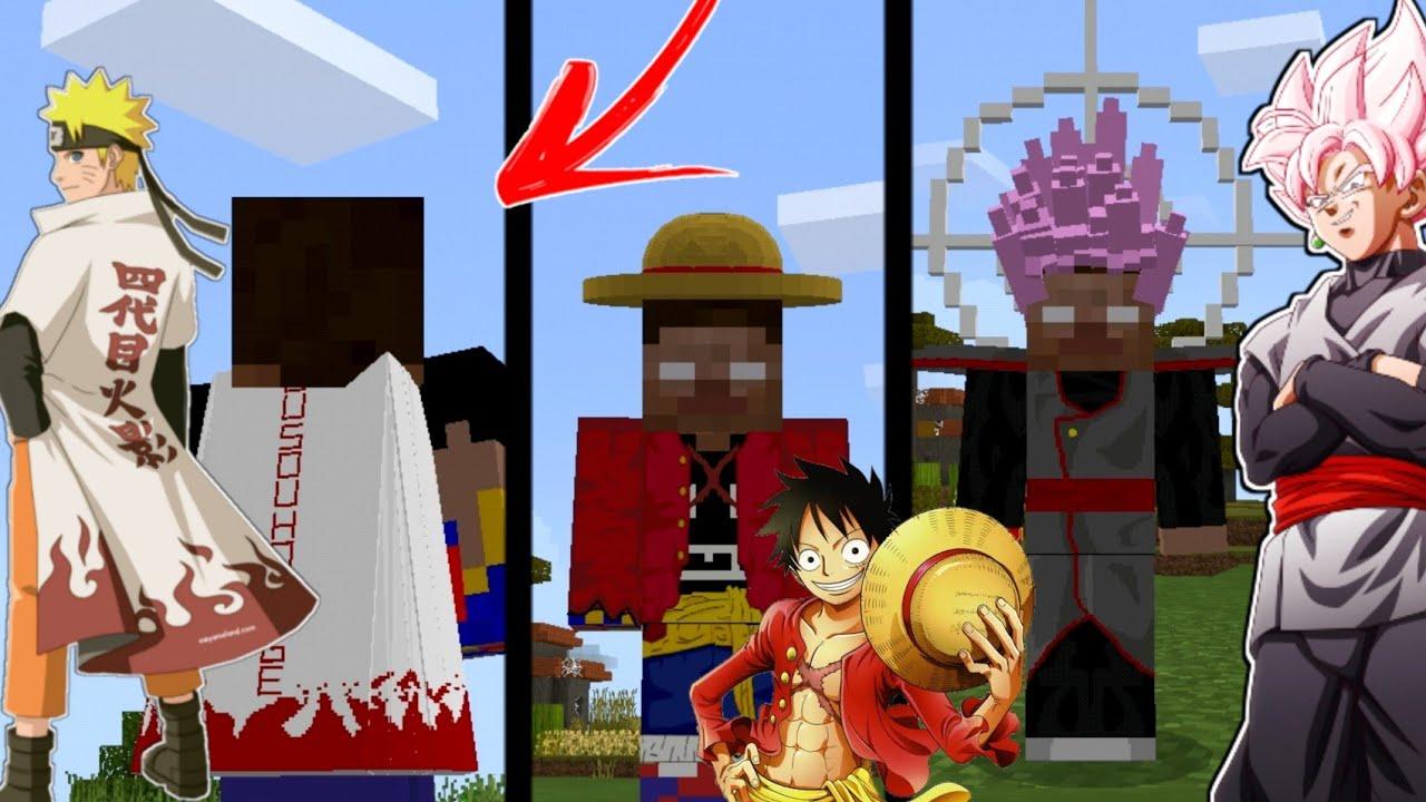 Download Saiu!! NOVO ADDON DE *ANIMES* PARA O MCPE! Dragon ball ,Naruto,One piece, e muito mais
