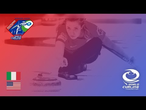 Italy v United States - Round-robin - World Mixed Doubles Curling Championship 2018