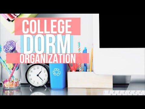 Back To School College Dorm Room Organization Ideas Essentials Youtube