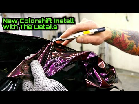 NEW COLOR INSTALL! DETAILED HOW TO Vinyl Wrap With Close Ups