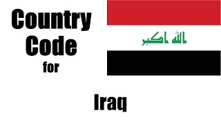 Iraq Dialing Code - Iraqi Country Code - Telephone Area Codes in Iraq
