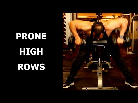 PRONE HIGH ROWS TO CORRECT A HUNCHBACK POSTURE