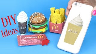DIY School Supplies - 5 McDonald's DIYs (Slime Phone Case, Mini Notebook, Pencil,   Pen & Eraser...)