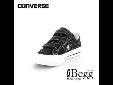 249cc0b693c4 Converse Onestar Vel Jn 658491C-001 Black trainers - YouTube
