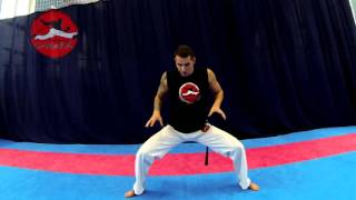 урок капоэйра, как делать жингу, уход эшкива и удар кишада!