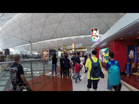 【香港國際機場】Hong Kong International Airport - Walking to Terminal Gate #48 from Customs