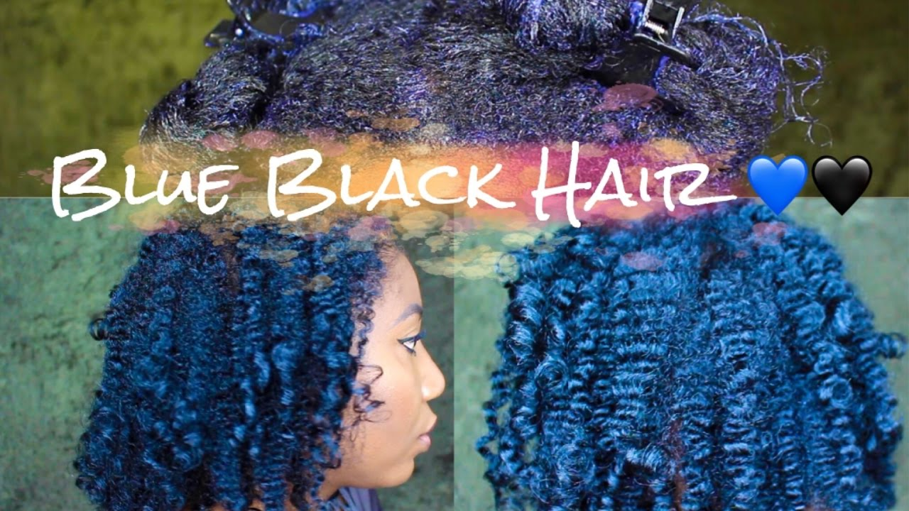 Dye Natural Hair Midnight Blue Black With Ion Color Brilliance