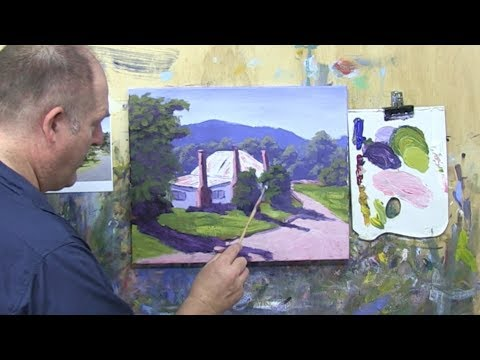 "Learn To Paint TV E14 ""Hills End Cottage"" Acrylic Painting For Beginners Step By Step."