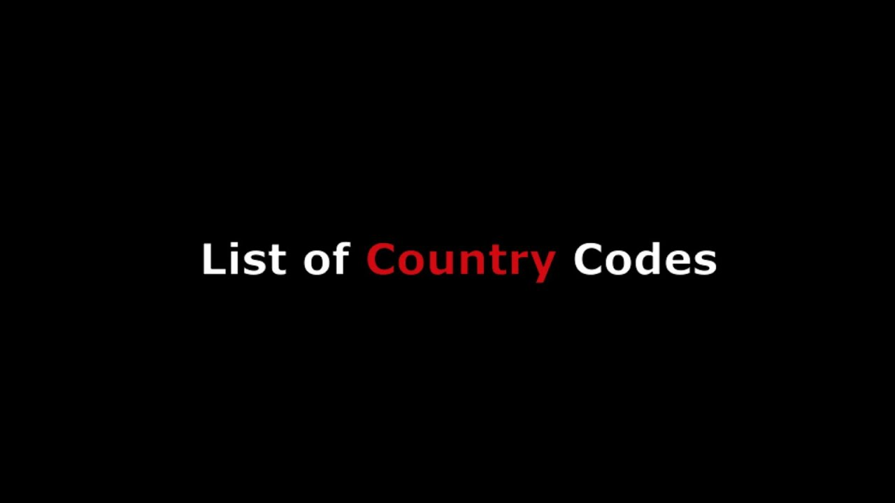 country codes list for international phone calling w numeric code