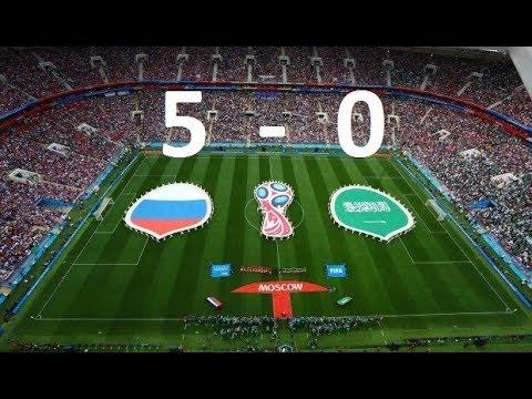 Rusia 5 Arabia Saudita 0 HD Soccer World Cup