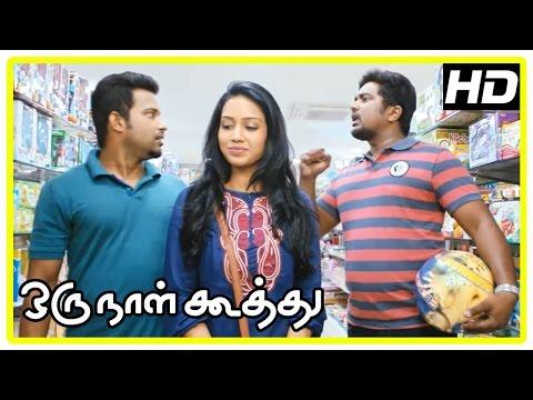 Oru Naal Koothu Tamil movie | scenes | Dinesh surprises Nivetha | Riythvika gets proposal