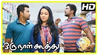 Oru Naal Koothu Tamil movie   scenes   Dinesh surprises Nivetha   Riythvika gets proposal