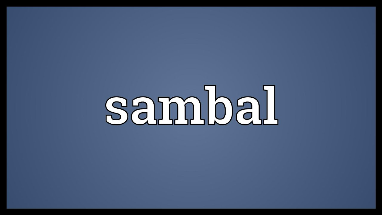 Sambal Meaning