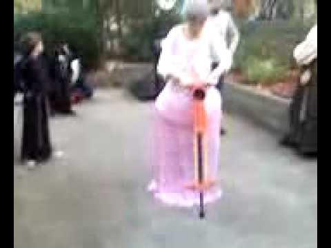 Hot Grandma on a Pogo Stick