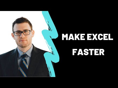 How To Make Excel Faster