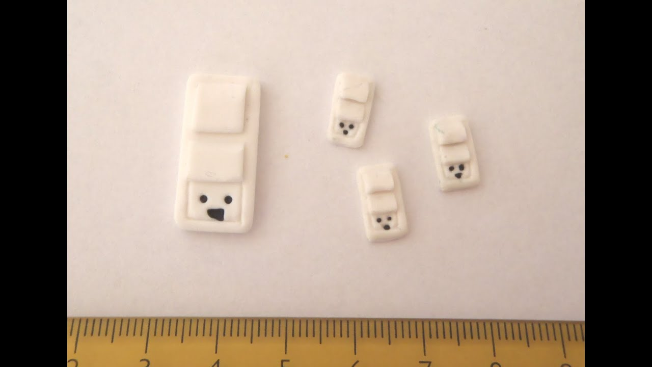 Polymer Clay Miniature A Light Switch Youtube Dollhouse Wiring Supplies
