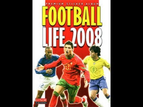 Football Life 2008 sticker album review and 50 packs opening