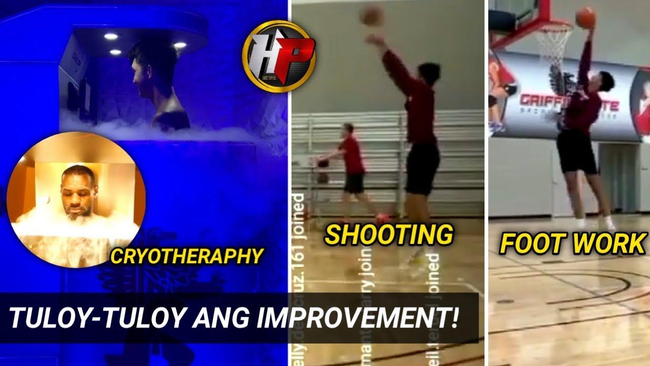 Ang mga bagong improvement ni Sage Tolentino| Shooting, Footwork at ang pagsailalim sa CRYOTHERAPHY!