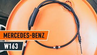 Cum se inlocuiesc cablul frânei de parcare pe MERCEDES-BENZ M W163  [TUTORIAL]