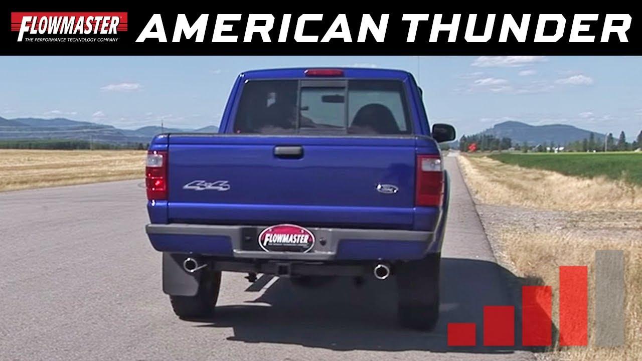 1998 2009 ford ranger flowmaster american thunder cat back exhaust system pn 817529 youtube [ 1280 x 720 Pixel ]