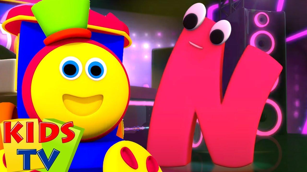 Bob le train | Chanson phonétique lettre N | Dessin animé | Kids Tv Française | Éducation