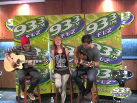 Paramore Misery Business Acoustic Performance