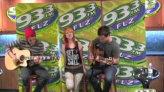"Paramore ""Misery Business"" Acoustic Performance"